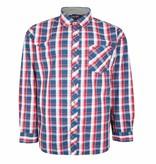 Kingsize Brand SH359 Grote maten Rood Overhemd Western Checks