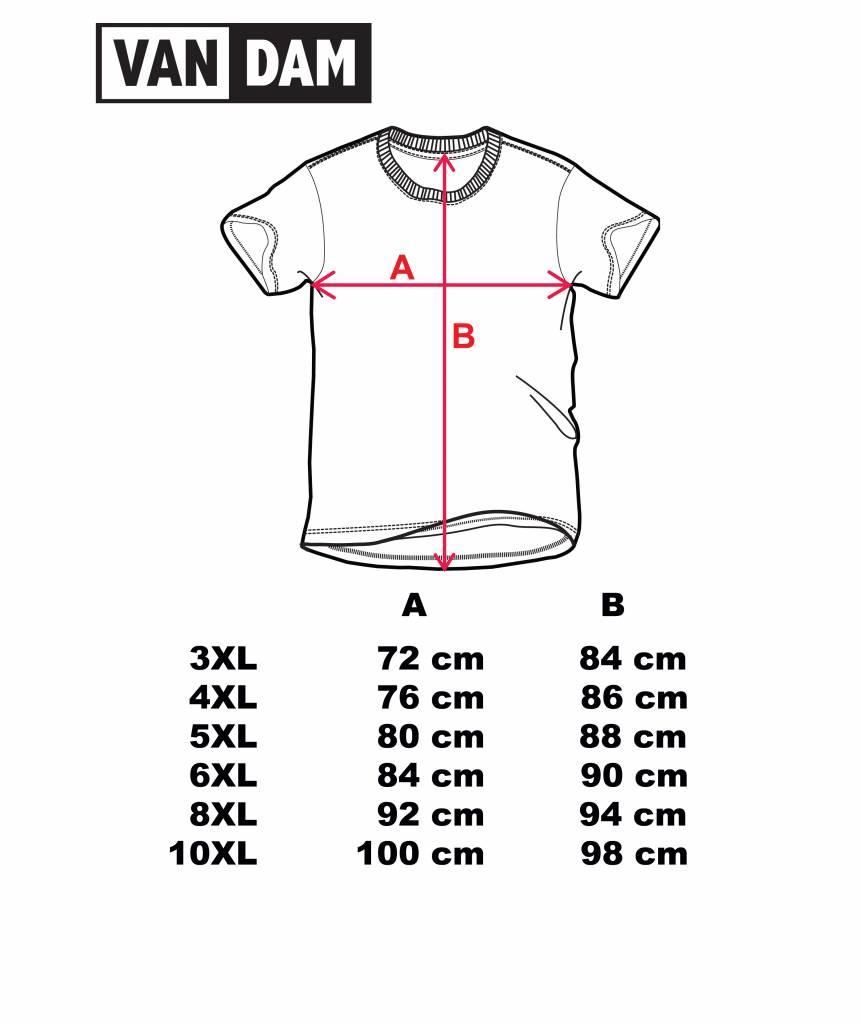 VANDAM 7710 Grote maten Zwart T-shirt