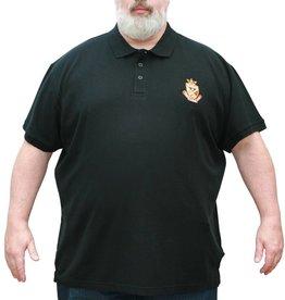 VANDAM 6621 Grote maten Zwarte Polo