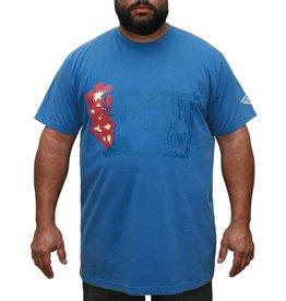 JEANSXL 722 Grote maten Blauw T-shirt