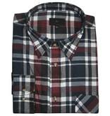 Kingsize Brand 15642 Grote maten Rood/Blauw Overhemd (lange mouw)