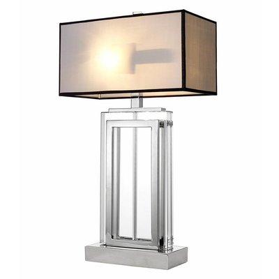 Eichholtz Tafellamp Lamp Arlington nikkel/glas