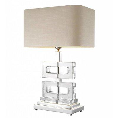 Eichholtz Tafellamp Lamp Umbria nikkel/glas