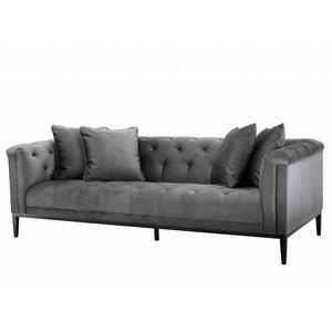 Wonderbaarlijk Eichholtz grijze bank sofa Cesare met zwarte pootjes, fauteuil in SE-08