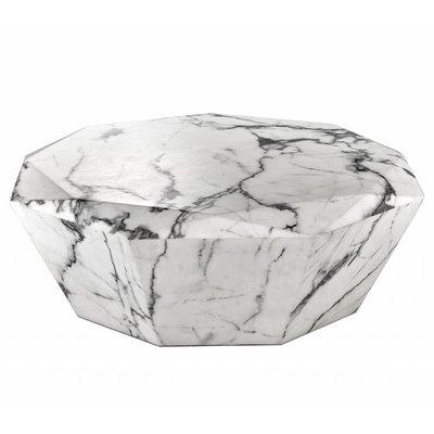 Eichholtz Coffee Table Diamond / salontafel wit-marmer