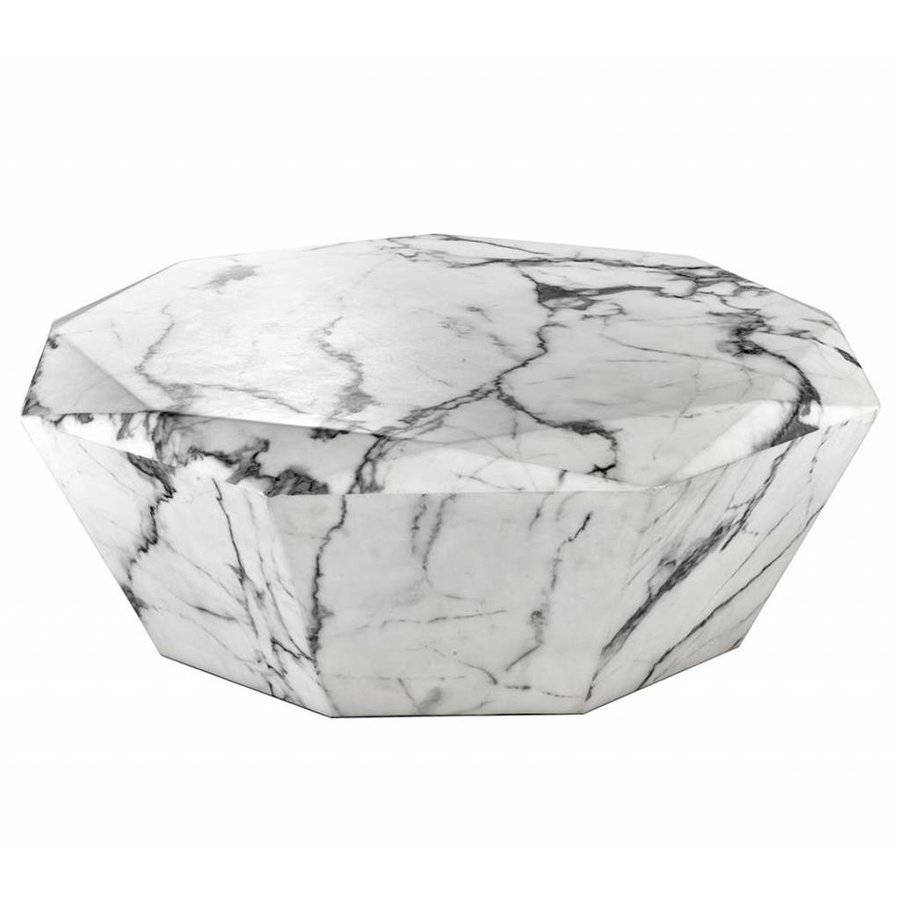 Salontafel Onyx Marmer.Eichholtz Ronde Salontafel 100cm Coffee Table Diamond