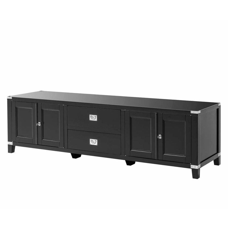 Stellingkast Diepte 50 Cm.Eichholtz Tv Cabinet Military Tv Lage Kast Zwart 180cm Breed X