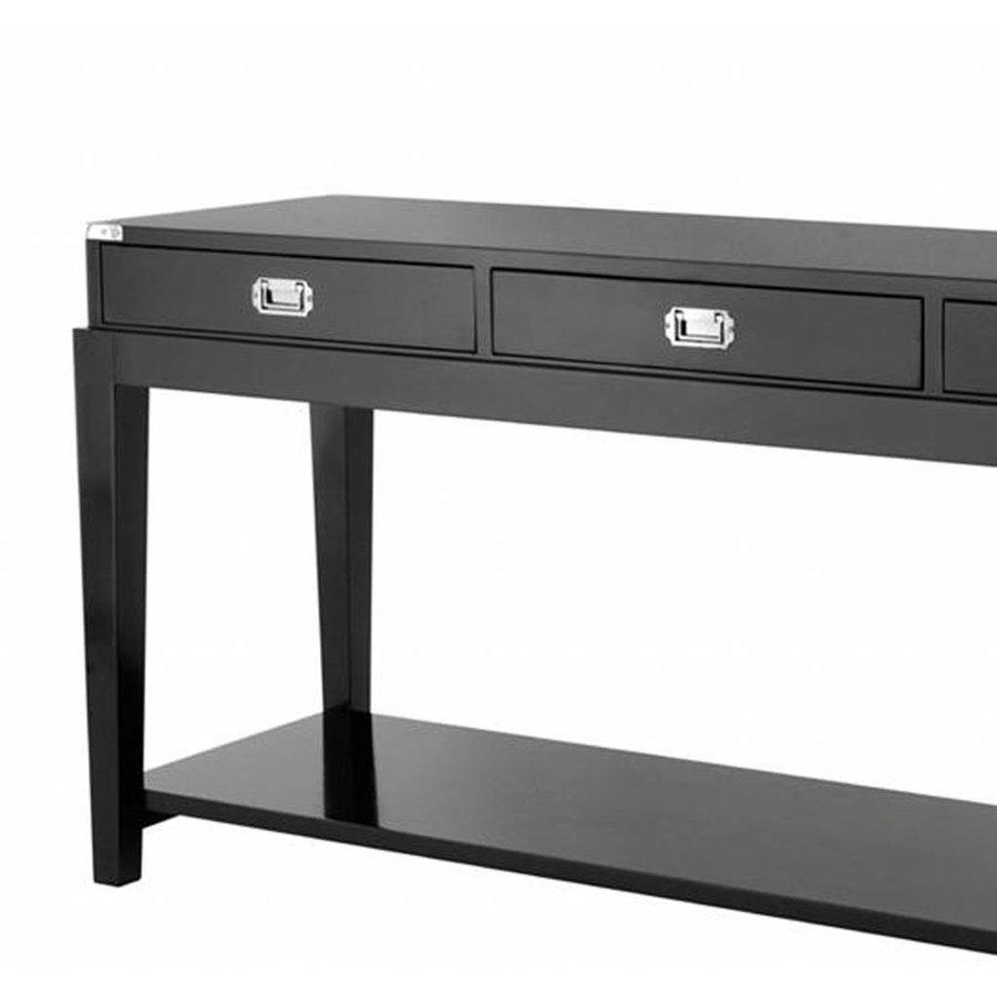 Sidetable Met Laatje.Zwarte Side Table Met 3 Laden Eichholtz Console Table