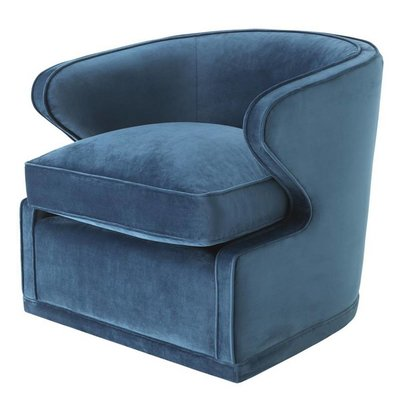 Eichholtz Fauteuil Chair Dorset Blue velvet