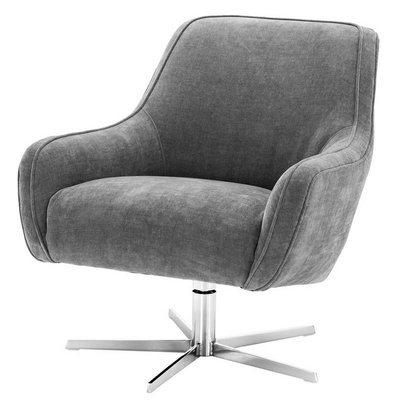 Eichholtz Draai-fauteuil Swivel Chair Serena Clarck grey