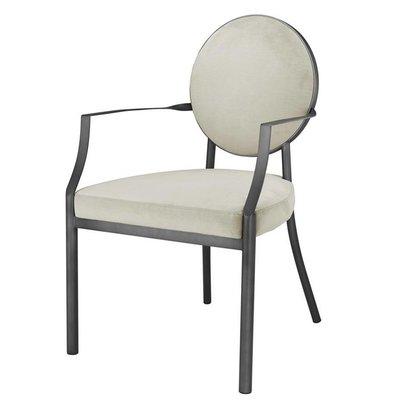 Eichholtz Stoel Dining Chair Scribe with arm Grey