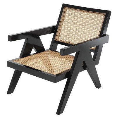 Eichholtz Fauteuil Chair Adagio zwart / naturel rotan