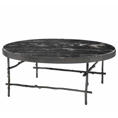 Eichholtz Salontafel Coffee Table Tomasso rond 100cm zwart-marmer