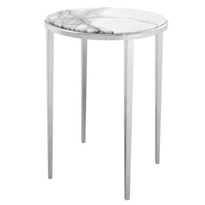 Eichholtz Bijzettafel Side Table Fredo wit marmer