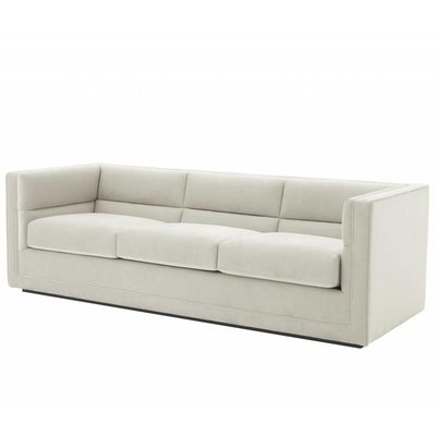 Eichholtz Bank - Sofa Adonia - Pebble grey (lichtbeige-grijs)