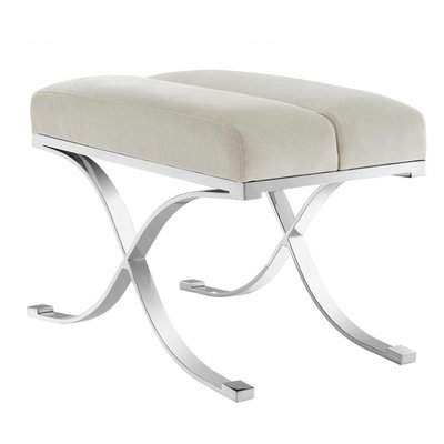 Eichholtz Bankje Stool Adonia Pebble grey