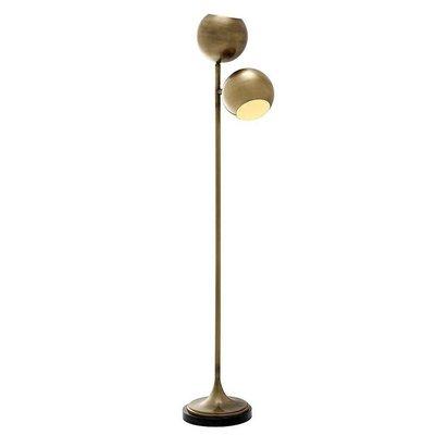 Vloerlamp - Lamp Compton antiek brons 2-lichts