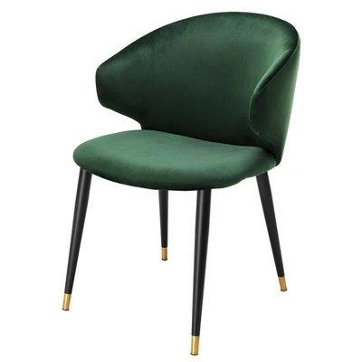 Eichholtz Eetkamerstoel - Dining Chair Volante green velvet