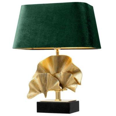 Eichholtz Tafellamp Olivier Palmblad goud / kap donkergroen velvet