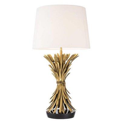 Eichholtz Tafellamp Lamp Bonheur antiek goud / witte kap