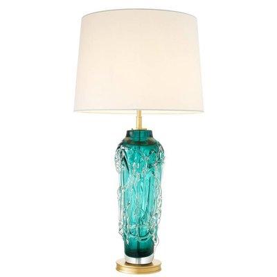 Eichholtz Tafellamp Lamp Toria turquoise / witte kap