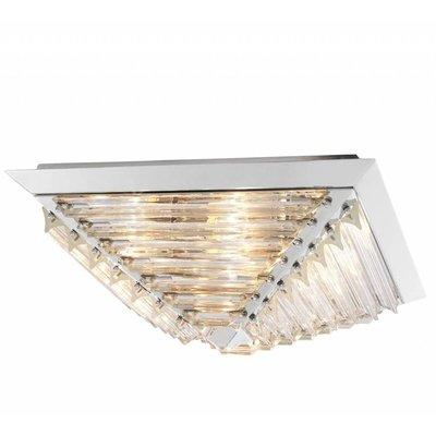 Eichholtz Plafondlamp - Ceiling Lamp Eden nikkel-glas