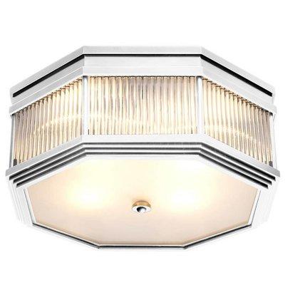 Eichholtz Plafondlamp Bagatelle nikkel-glas