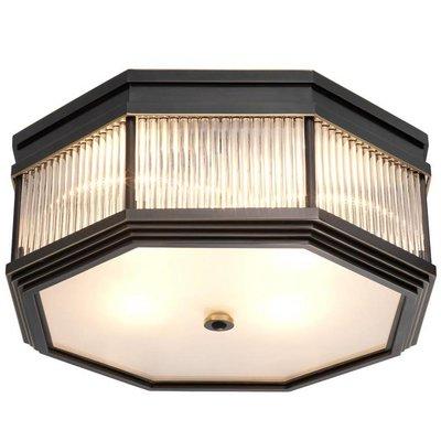 Eichholtz Plafondlamp - Ceiling Lamp Bagatelle Brons-glas