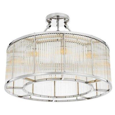 Eichholtz Ceiling Lamp Bernardi Plafondlamp nikkel finish-glas