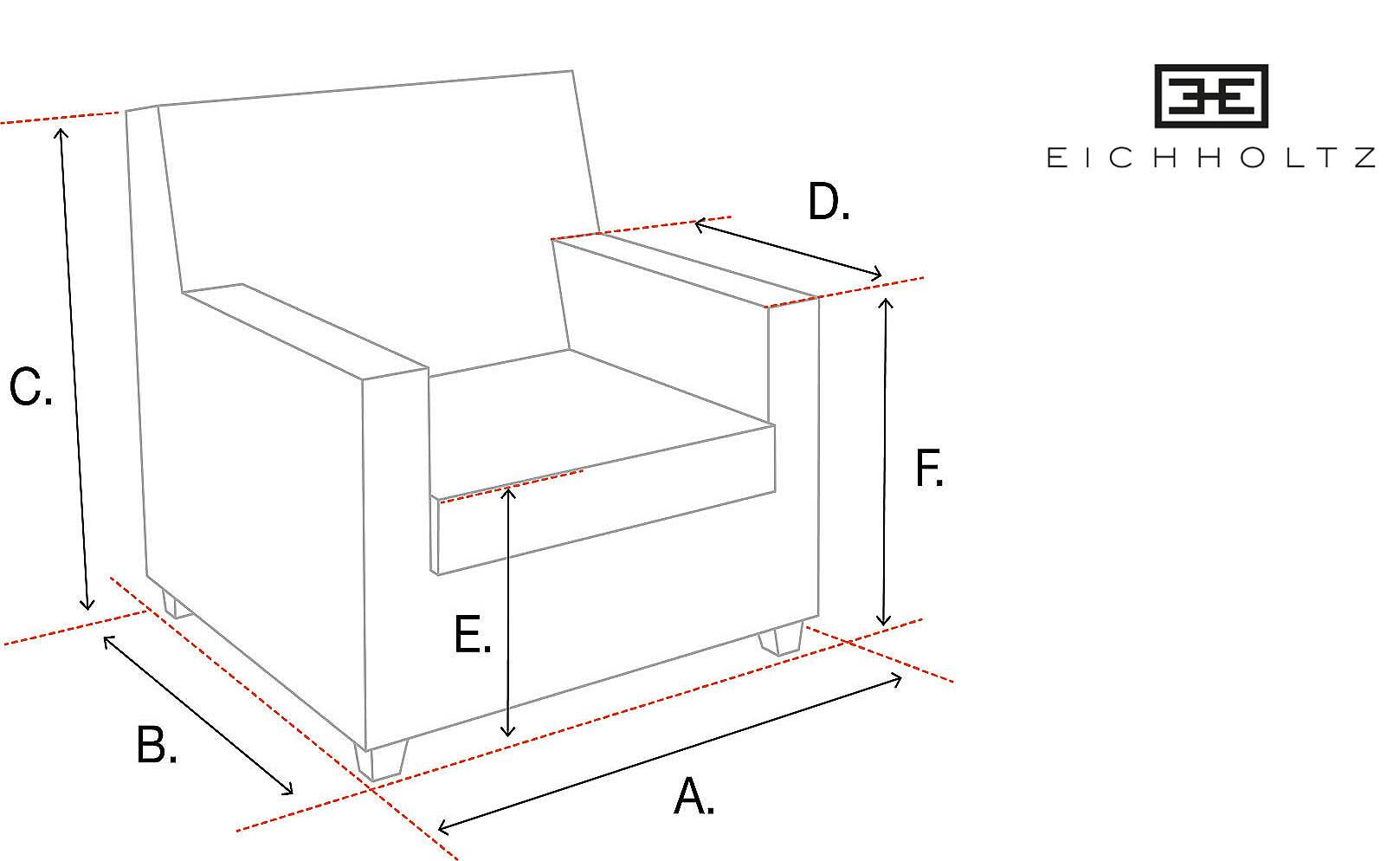 stoelen formaat zithoogte eichholtz