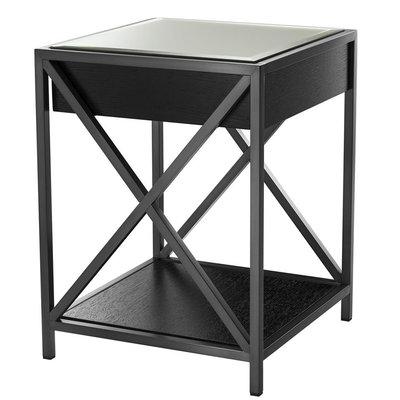 Eichholtz Bedside Table Beverly Hills - nachtkastje zwart brons