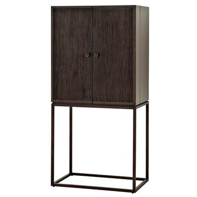 Eichholtz Barkast donkerbruin hout  Cabinet DeLaRenta