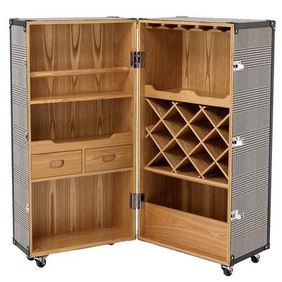 Eichholtz Barkast op wieltjes - Wine Cabinet Martini Bianco