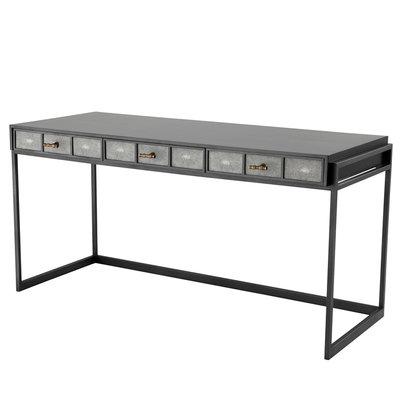 Eichholtz Desk Paco Bureau grijs-zwart 150cm breed
