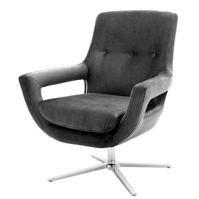 Eichholtz Draaistoel Swivel Chair Flavio graniet grijs