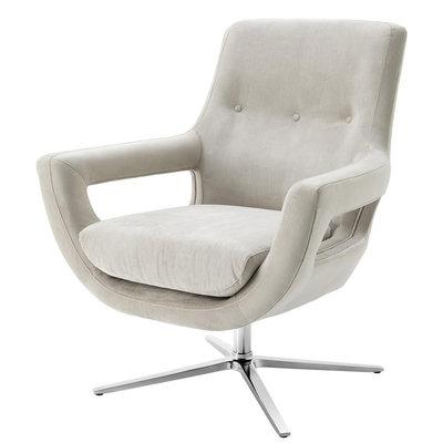 Eichholtz Draaistoel Swivel Chair Flavio lichtgrijs