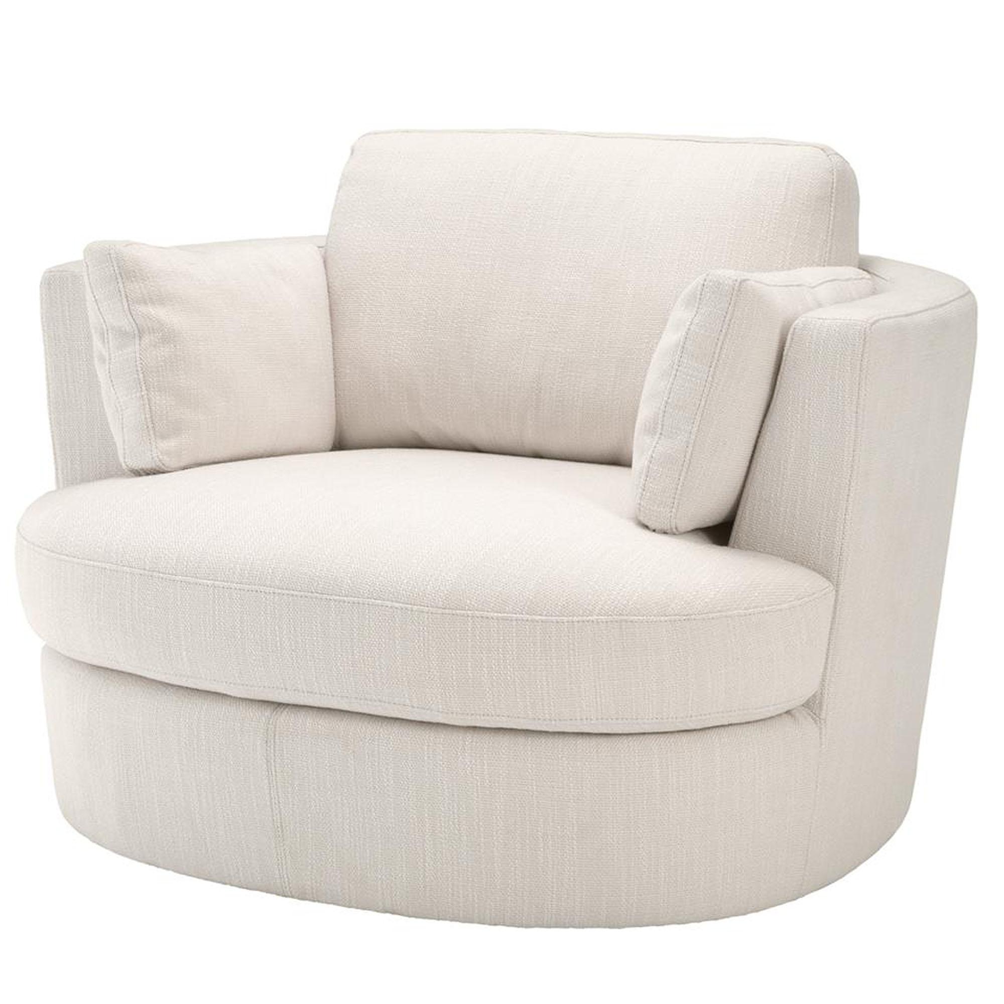 Witte Draai Fauteuil.Ronde Witte Draai Fauteuil Eichholtz Swivel Chair Clarissa