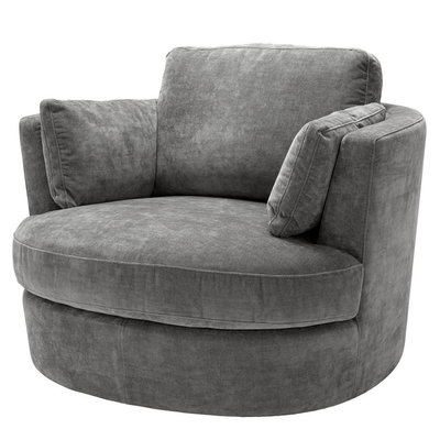 Eichholtz Draai Fauteuil Swivel Chair Clarissa Grijs