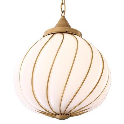 Eichholtz Hanglamp Chandelier Romano Bol wit glas