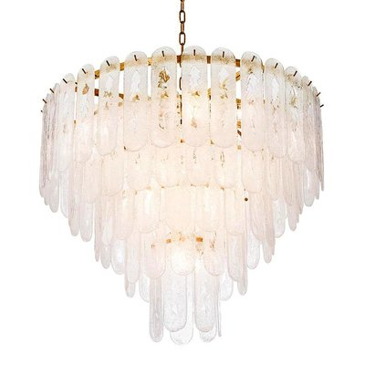 Eichholtz Hanglamp Chandelier Riveria gold / glass
