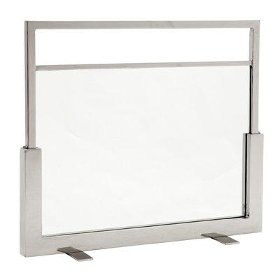 Eichholtz Haardscherm Ramor nikkel / glas