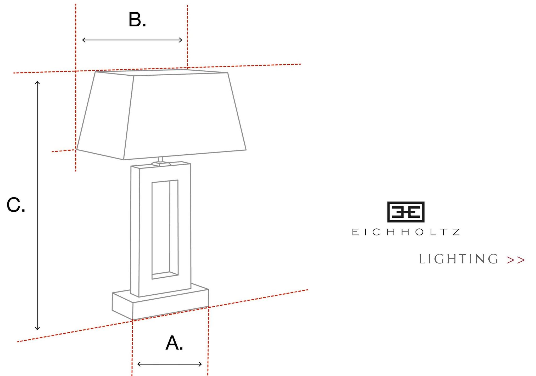 Lampen tafellampen Eichholtz formaten