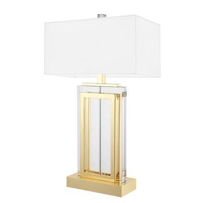 Eichholtz Tafellamp Lamp Arlington goudkleur / witte kap