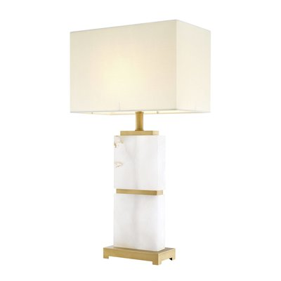 Eichholtz Tafellamp Robbins wit marmer / witte kap