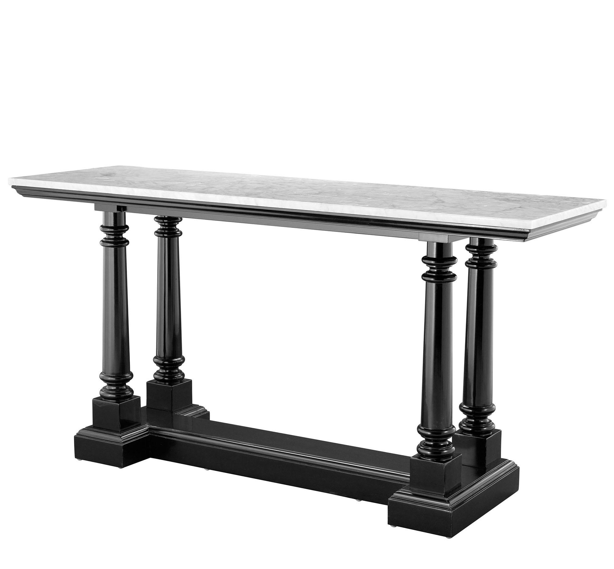 Zwarte Klassieke Sidetable.Eichholtz Side Table Modern Klassieke Zwart Wit Grijs