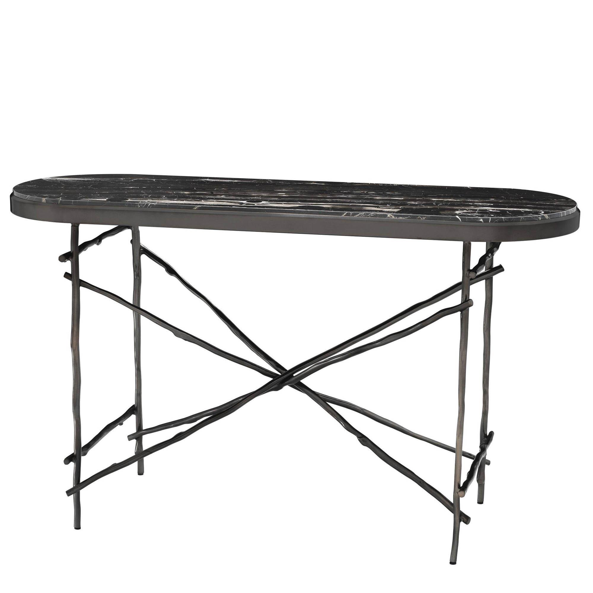 Sidetable Met Marmer.Eichholtz Side Table Zwart Met Zwart Marmer Blad Berlano Interieur