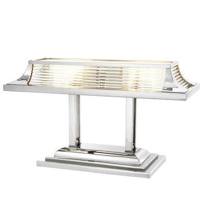 Eichholtz Bureaulamp Havana nikkel met glas