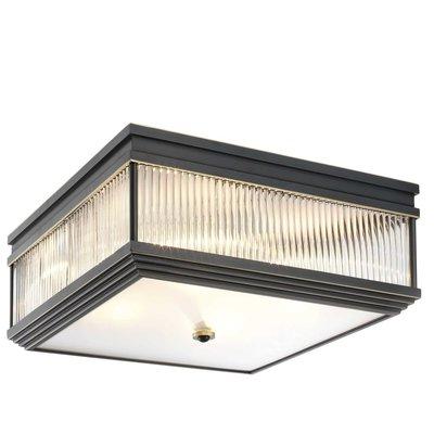 Eichholtz Plafondlamp Marly zwart brons / glas