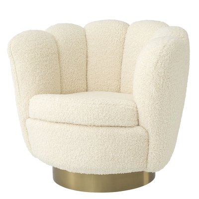 Eichholtz Swivel Chair Mirage - draaifauteuil schapenvacht