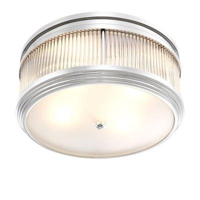 Eichholtz Plafondlamp - Ceiling Lamp ROUSSEAU nikkel-glas